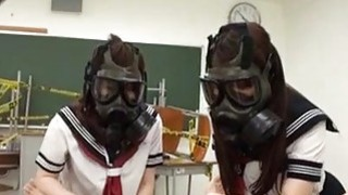 CFNM Gas Mask Japanese Schoolgirls Subtitles image