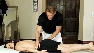 Busty milf Rayvness sucked off masseurs cock and_pounded image