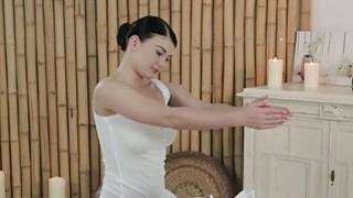 Image: Busty masseuse giving footjob till orgasm
