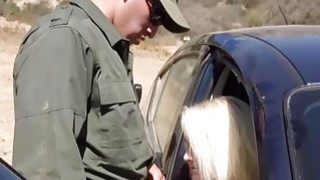 Blonde Babe Gets Fucked At_The Border Crossing image