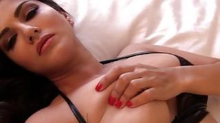 Sunny Leone In Black Silk image