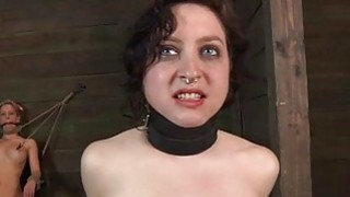 Worthless whore is made to enjoyment her twat image