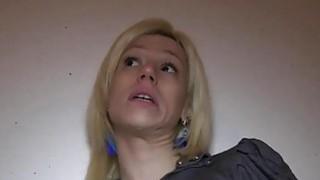 Stranger fucks blonde in public underground car park image