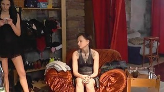 Amateur czech chick does striptease for the audience image