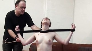 Image: Tied slave Honesty Cabellero whipped and hot wax