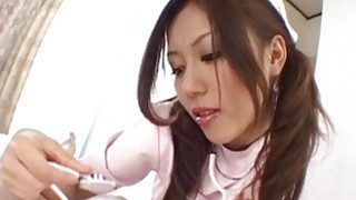 Rimu Himeno gives_a headfucking and foot job_to horny patient image
