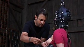 Tough gal in shackles acquires her_fur pie pumped image