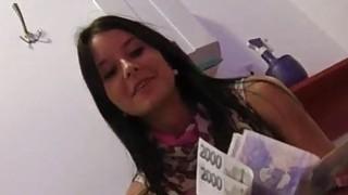 Sexy Eurobabe Mia Manarote fuck for cash image
