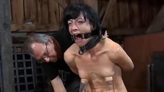 Image: Hard teasing for beautys nipples bald wet crack