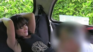 Married brunette bangs in fake taxi image