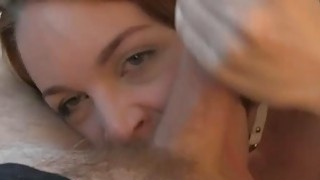 skinny tali dava banged in the backseat - Redhead chick gets fucked by fake driver in the backseat image