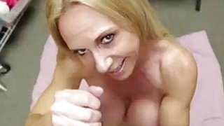 Milf Corners Young Guy And Peels Off All Her Clot image