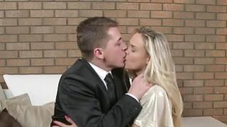 Tight blonde Milf in stockings fucks image