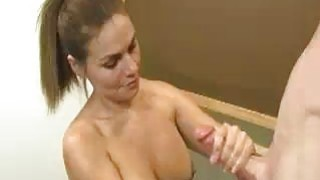 Teen Babes Cute Face Creamed By Huge Buckets image