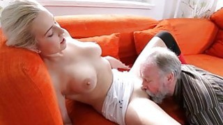 Image: Excited young gal gets experience with old lover