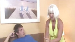 Image: Horny Granny Gets Excited Seeing This Guys shirt