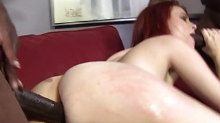 Andrea Sky Double Penetrated by Big Black Cocks image