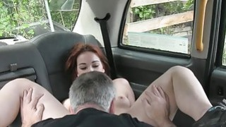 European redhead gets fucked by fraud driver in the cab image
