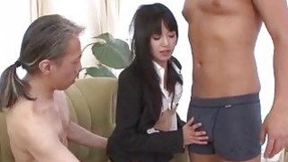 Kotomi Asakura office adventure with her bosses image