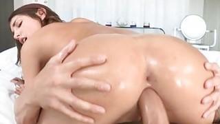 Image: Having studs huge cock in her throat thrills chick