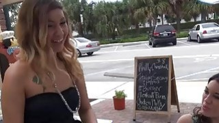 Amateur chick loves money and is not shy to fuck on camera image