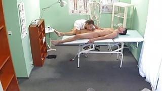 Sexy nurse massages and fucks patient image