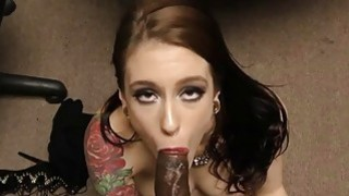 Hooker Anna de Ville takes anal fucking at police image