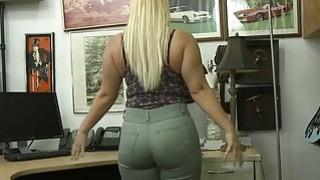 Big ass blonde whore pounded by pawn guy to earn extra money image