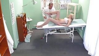 Doctor fingers and bangs slim blonde image