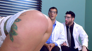 Ryan Conner gets her big ass worshipped by Charles Dera_and Ramon image