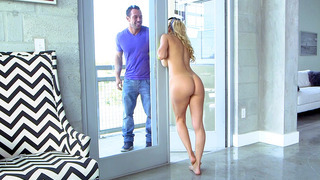 Image: Alexis Fawx seduces her son's friend, doing her housework in the nude