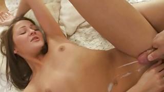 Sleeping gal is awaken by boy for mindblowing sex image
