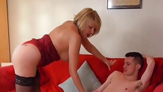 AgedLove Nice blonde granny is fucked by horny man image