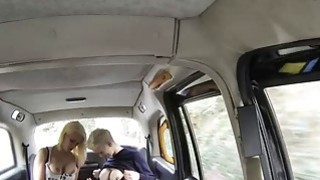 Image: Two big boobs whores intimate lesbian sex in the cab