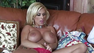 Image: Horny Blonde Mom Holly Halston Fucks A Young Stud