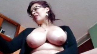 Image: Busty Housewife Liza toying live at home