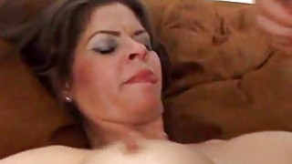 Image: Big tits MILF creampie cumshot