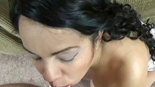 Dolly Naught is on her knees and sucking dick image