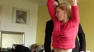 Blonde granny Molly Maracas gets drilled while handcuffed image