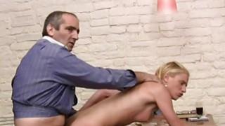 Hottie offers her pussy for teachers pleasure image