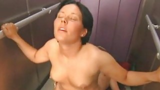 Amateur couple fucking in an elevator image