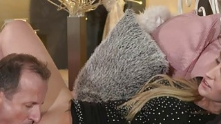 Good looking blonde mom banged in bed image