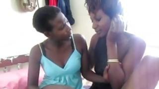 Awesome Black Whores Enjoys Hot Lesbian Action image