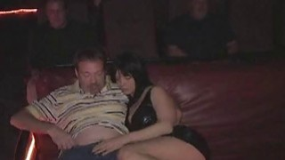 Three hole slut Anna fucks a crowd in the porn movie theater image