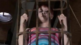 Image: Gagged cutie acquires violent whipping on her tits