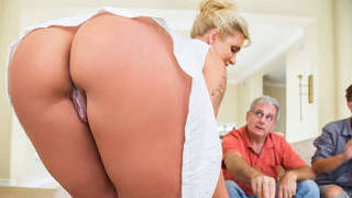 Step mom using my cock in front of_step dad image