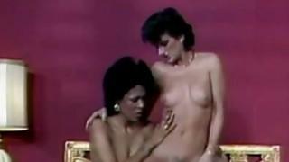 Liz Alexander & Sharon Mitchell Interracial Retro image
