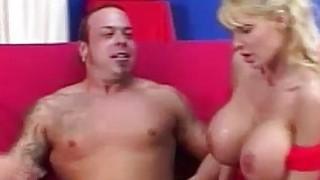 Blonde Licks & Sucks Her Own Nipples image