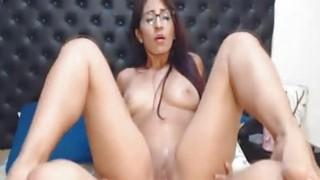 Hot Nerdy Babe Rides Her Horny Boyfriend Cock image