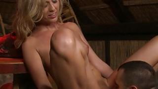 Nipple Pegged Slut Gets Dominated image